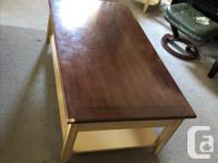 1) Sofa table, 2 drawers, good-very good condition,