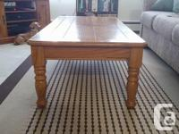 "25""x 50"" coffee table with 2 matching end tables 22"" x"