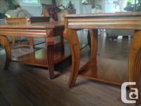 Dark wood Coffee Table Set 1 coffee table 2 end tables