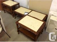 Beautiful coffee table and matching set of end tables