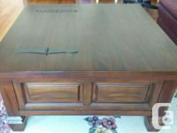 Solid wood coffee table with lots of storage capacity