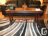 Lovely vintage coffee table. Metal claw feet with