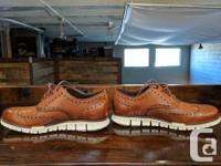 Cole Haan Zerogrand Wing Oxford in British Tan Size 8.5