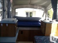 Very light and easy to tow,sleeps 6,sink & stove