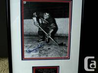 Maurice Richard autographed picture and Paul