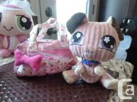 Collection of 5 Littlest Pet Shop Plush (LPS) animals