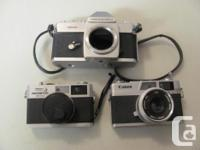 I have a collection of vintage cameras for sale-