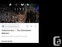 2 hard copy tickets for Collective Soul at the