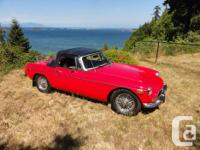 Make MG Model MGB Year 1971 Colour RED kms 1234 Trans