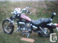 1986 Yamaha virago 1100 cc low kms 70 000 original .