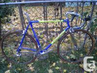 For sale is a colnago SLX tubing road bike. It is blue