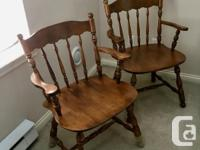 """Solid maple colonial dining-room suite. 42"""" round table"""