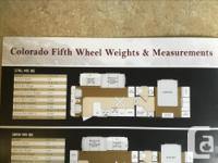 Colorado fifth wheel trailer, 27 foot floor plan;