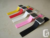 Colorful Silicone Square Face LED Mirror Sport Watches