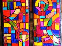Stunning colourful faux stained glass paintings for