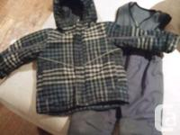Two snowsuits size 3T...one blue ($30) and one black