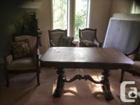 large french . lable. trestle base. see pictures. $250