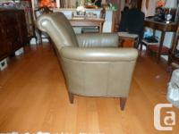 Genuine Olive Green Chair. This chair is not bonded or