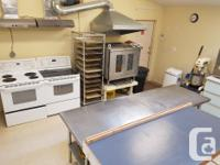 Spacious food preparation facility for rent, equipped