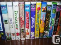 34 top quality childrens collectible VHS flicks