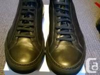 Common Projects Achilles Mid Black For Sale  Model