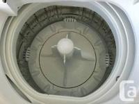 Danby Designer portable washer with sink hookup hoses.