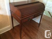 Cherry Rolltop secretary writing desk. Nice compact