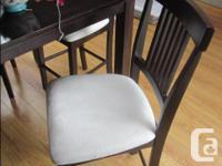 "Pub Style Table (41"" sq. x 36""h) $250 includes 4 chiars"