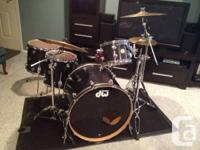 6 years old, DW Collector Series drums. 24x20 bass