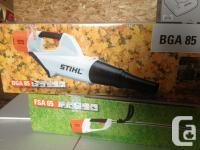 Brand New, Never opened. STIHL cordless mower, blower,