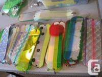All lures, flashers, swivels, hooks, weights etc, very