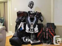 Full Collection of Elder Goalie Equipment (Hockey).