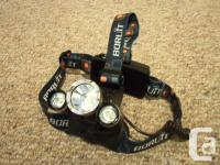 All new 5000 LM Rechargeable Headlamp. 3X CREE XM-L U2