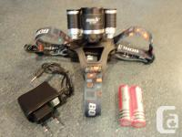 Brand New 5000 LM Rechargeable Headlamp. 3X CREE XM-L