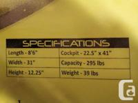 """All new Clearwater 8'6"""" Kayak with Paddle, Great for"""