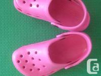 All new Pink Holey Soles Slip on Sandals for your