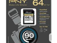 PNY 64GB SDXC Elite Performance UHS-1 90MB/sec. Some