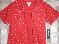 Brand-new Red Maple Left Button up Charge tee shirt for