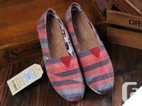 New Authentic TOMS men's & ladies's slip-on footwears