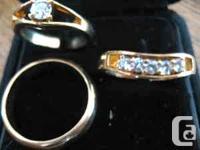 1. One 18K gold wedding band for gentlemen size 9.