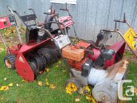 I have 4 components snowblowers available. I have a