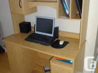 Computer Desk with detachable Hutch  - great and