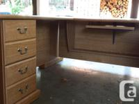 Must sell a computer work station and desk with a hutch