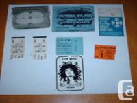 Concert & Play Ticket Stubs & Membership Cards from the