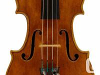 Musician selling finest solo violins, violas, and