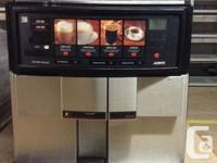 A lot of 5 commercial grade espresso beverage dispenser