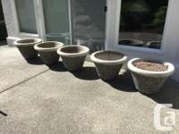 Exposed aggregate planter concrete pots $100 each and 1