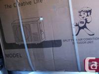 SPLIT TYPE AIR CONDITIONER NEW IN BOXES CREATIVE LIFE