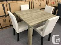 "Compact square dining table (39"" X 39"") with 4"