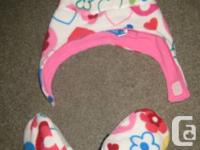Kid Girls winter season hats, mitts and scarves for